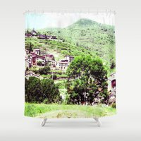 spain Shower Curtains featuring spain by Natalee