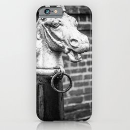 Hitching Post in Black and White Hitchin' Post iPhone Case