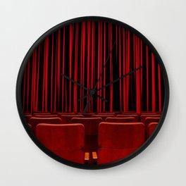 'RED CURTAIN CALL' Wall Clock