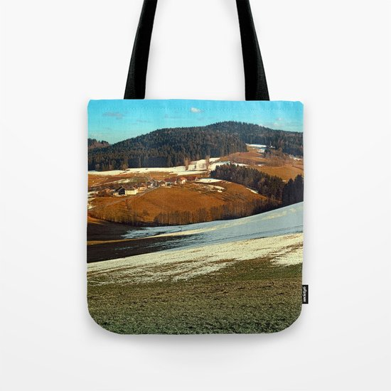 Scenic view below the Bohemian Forest | landscape photography Tote Bag