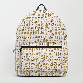 Trendy Yellow Doodle and Abstract Drawn Cryptic Backpack