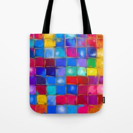 MoSaiC ART ' ALL THe PReTTY CoLouRS ' By SHiRLeY MacARTHuR Tote Bag