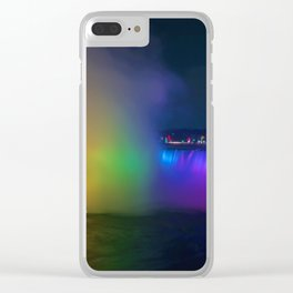 Rainbow Niagara Falls Waterfall (Color) Clear iPhone Case