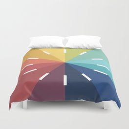 Modern Color Wheel Duvet Cover