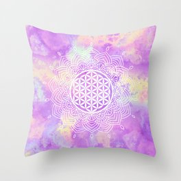 Flower Of Life (Soft Whispers) Throw Pillow