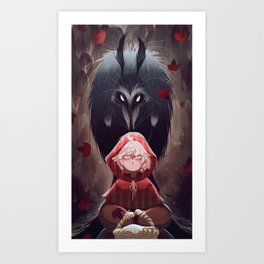 Little Red Riding Hood and Mr. Wolf Art Print