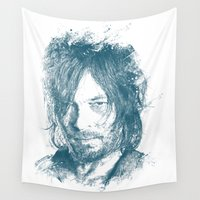 daryl dixon Wall Tapestries featuring DARYL DIXON by Chadlonius