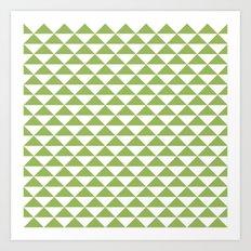 Greenery pyramid Art Print
