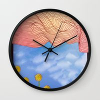 window Wall Clocks featuring Window by Brontosaurus