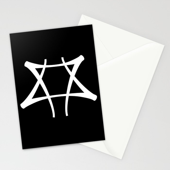 Vance Symbol on Black Stationery Cards