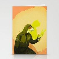 kermit Stationery Cards featuring kool kermit by Kingu Omega