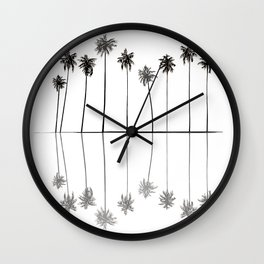 Palm Reflections II Wall Clock