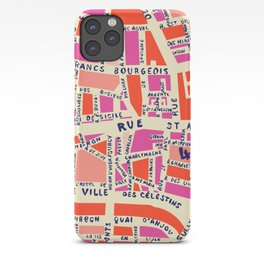 paris map pink iPhone Case