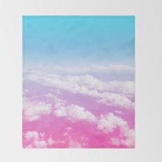 Pink Summer Flight Throw Blanket