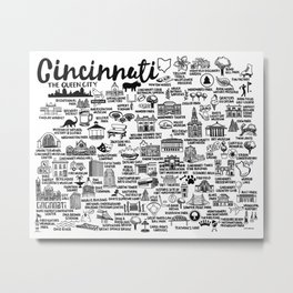 Cincinnati Ohio  Metal Print