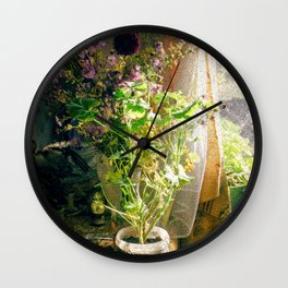 Vintage Classic Flower Still Life Wall Clock