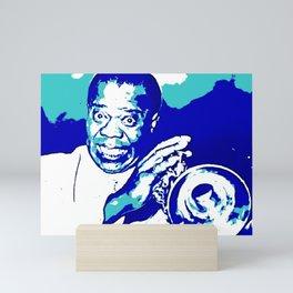 S6 - Louis - Louie - Daniel Armstrong Satchmo - Satch - Pops - Pop Sketch-Art 7769 Mini Art Print