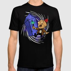 Dr Magwho MEDIUM Black Mens Fitted Tee