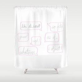 Girl World Shower Curtain