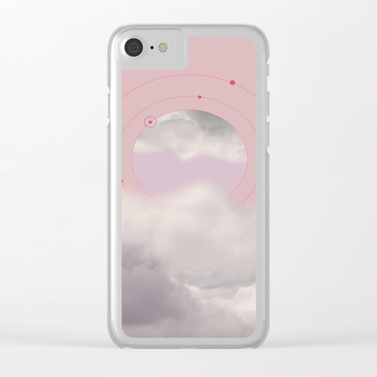 Floating in Clouds Clear iPhone Case