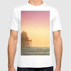 PIER White SMALL Mens Fitted Tee