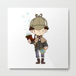 Detective, as a child Metal Print