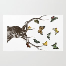 The Stag and Butterflies Rug