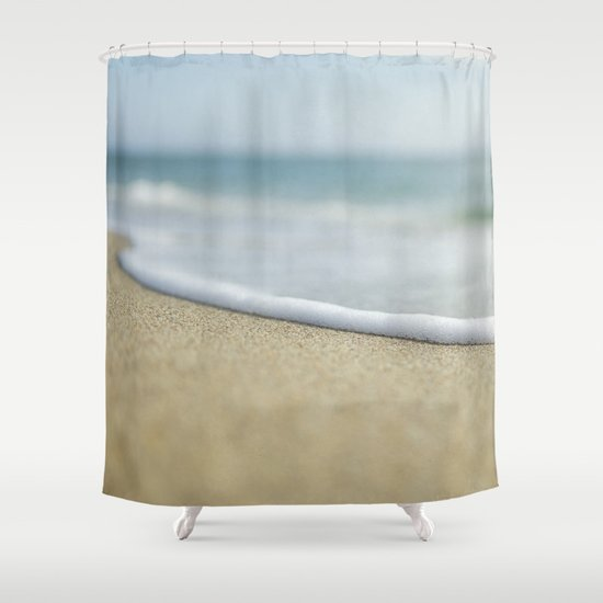 Sea Foam Beach Shower Curtain