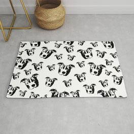 CHRISTMAS GIFTS FOR THE PIT BULL DOG LOVER FROM MONOFACES  Rug
