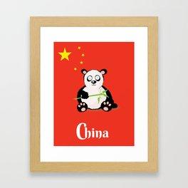 China Panda Cartoon poster Framed Art Print