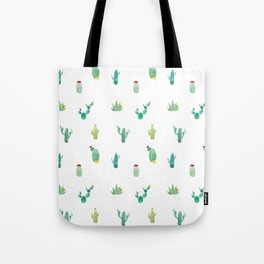 Summer pattern with cacti and yellow cats ! Tote Bag