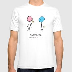 COURTING by ISHISHA PROJECT SMALL White Mens Fitted Tee