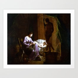 Joseph Wright of Derby Penelope Unraveling Her Web Art Print