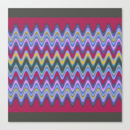 Wavy Pattern Canvas Print
