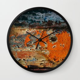 Painted Boat Wall Clock