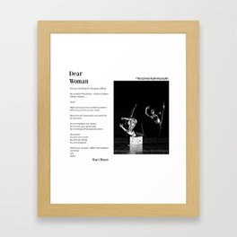 Dear Woman - Climb Framed Art Print