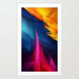 Geometric Colors Art Print
