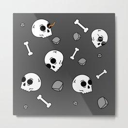 Bones Sinking Like Stones Metal Print