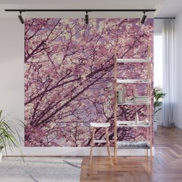 Pink Lavender Blossoms. Wall Mural