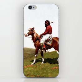 """Western Art """"Comanche Brave"""" by Frederic Remington iPhone Skin"""