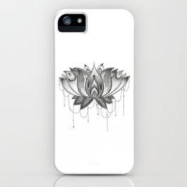 Zentangle Lotus Mandala iPhone Case