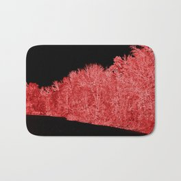 Snowy White Limbs with Neon Filter Bath Mat