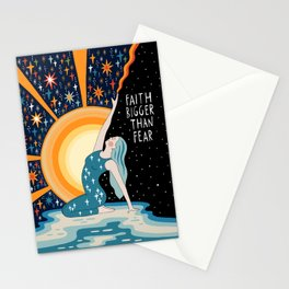 Faith bigger than fear Stationery Cards