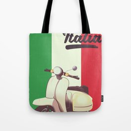 Italia Scooter vintage poster Tote Bag