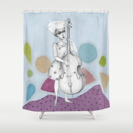 I bass play a song for you Shower Curtain