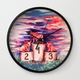 porci con perle Wall Clock