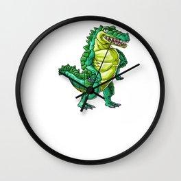 Crocodile Grandpa Alligator Reptile Animal Wall Clock