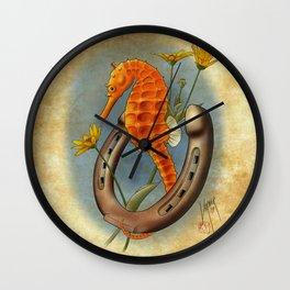 Seahorse and Horseshoe Wall Clock