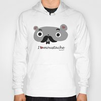moustache Hoodies featuring moustache by Sucoco
