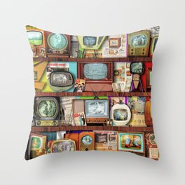 The Golden Age of Television Throw Pillow
